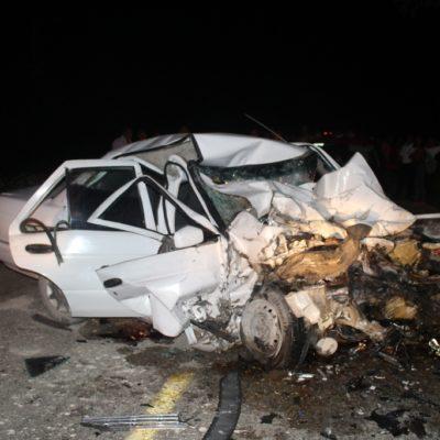 TRAGEDIA EN CARRETERA DE FELIPE CARRILLO PUERTO: Choca camioneta de equipo de Carlos Joaquín contra auto con saldo de 7 muertos y 4 heridos