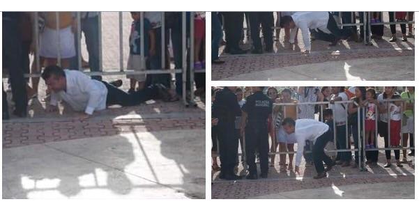 TROPIEZA EL 'CABALLO' DESBOCADO: Por andar de prisa, Mauricio Góngora sufre aparatosa caída… y prueba la dureza del suelo