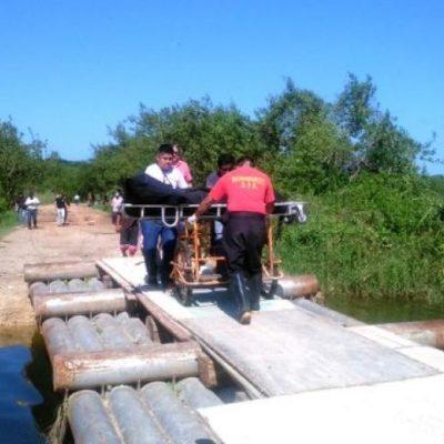 Hallan a hombre ahogado en la laguna que está en la sabana de Chetumal