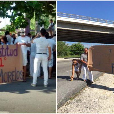 RECLAMAN LATITUD 21° PARA PUERTO MORELOS: Protestan habitantes por 'moche' de territorio histórico al crear el undécimo municipio de QR