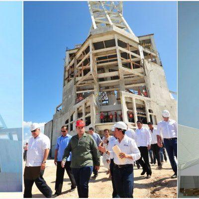 TERMINARÁ MEGADERROCHE HASTA JULIO: Supervisa Borge gasto de 100 mdp en construcción de museo sobre ruinas de la megaescultura del 'mestizaje'
