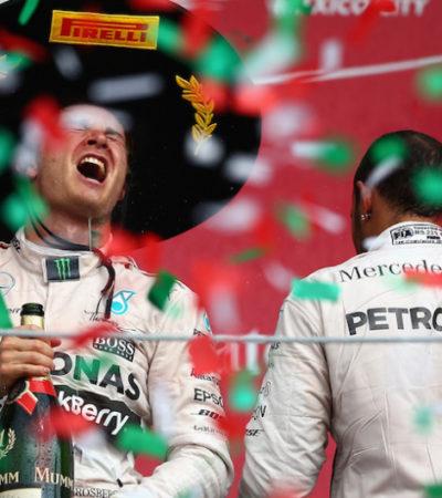 NICO ROSBERG GANA EL GRAN PREMIO DE MÉXICO: Brillan alemanes en el regreso de la Fórmula 1; Sergio 'Checo' Pérez terminó octavo