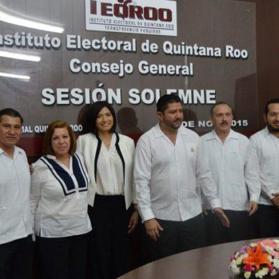 RINDEN PROTESTA CONSEJEROS DEL OPLE: Con liquidación del Ieqroo, arranca proceso electoral de 2016