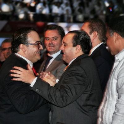 GOBIERNOS PARALELOS: Acude Borge al V Informe de Javier Duarte en Veracruz