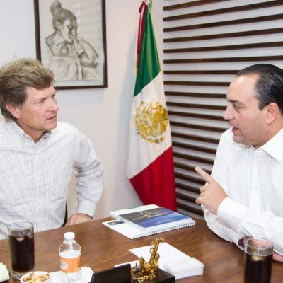 Se reúne Borge con secretario de Turismo y el senador Gamboa en el DF; ratifica 'trabajo coordinado'