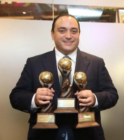 VIENE BORGE CARGADO DE TROFEOS: Dan a Cancún 3 premios en el World Travel Market de Londres 2015