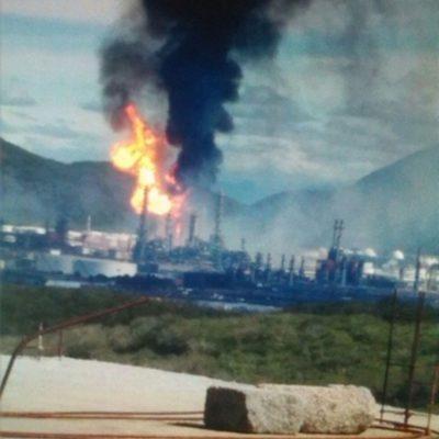 Confirman nueve heridos no graves por incendio en refinería de Salina Cruz