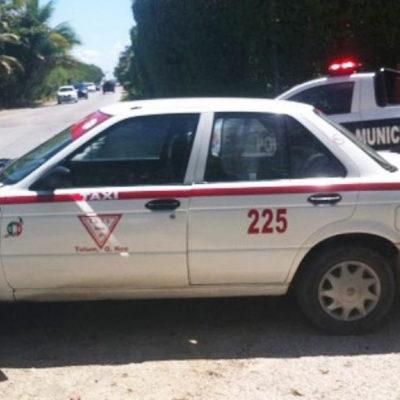 EJECUTAN A TAXISTA EN TULUM: Hallan encajuelado en su propio auto en la carretera rumbo a Cobá a ruletero denunciado por extorsión