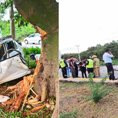 TRAGEDIA BAJO LLUVIA EN PLAYA: Por exceso de velocidad, se registran 2 accidentes en la vía Playa-Cancún; 4 turistas muertos y 8 heridos, el saldo