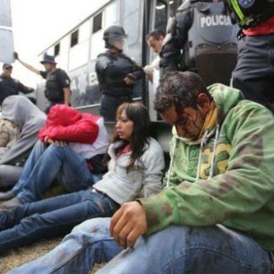 Ejecutan acción penal contra 52 normalistas tras protestas y disturbios en Michoacán