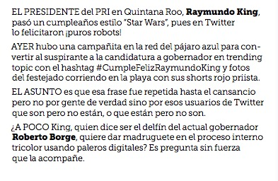 BALCONEAN A 'RAY' POR 'CUMPLE' PATÉTICO: Exhibe Reforma campaña del 'jovenazo' líder del PRI para ser felicitado en redes por ¡puros robots!