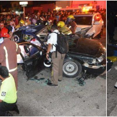CHOQUE MORTAL EN LA TALLERES: Conductor ebrio impacta auto de empleados de televisora en Cancún; un muerto y un herido grave, el saldo