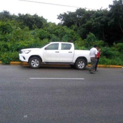 DESAPARECE HIJO DE SECRETARIO DE TULUM: Hallan abandonada en carretera a Playa camioneta donde viajaba vástago del Gilberto Gómez Mora