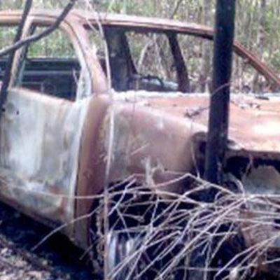 Confirman que camioneta calcinada en Bacalar es del ganadero desaparecido junto con su esposa hace tres meses