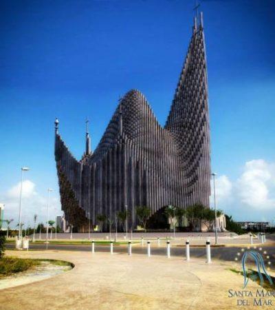 """""""EN MANOS DE LA VIRGEN"""": Dice Obispo que no tienen prisa por terminar polémico proyecto de catedral en el Malecón Tajamar"""