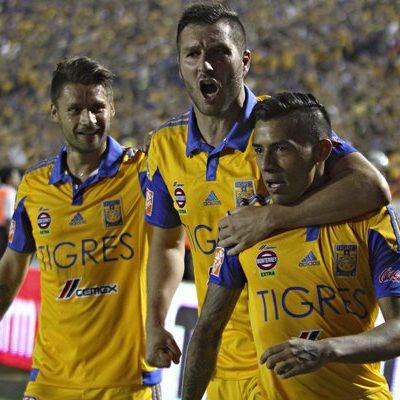 PONEN LA MITAD DE LÁPIDA: Golea Tigres 3-0 a Pumas en partido de ida de la final del futbol mexicano