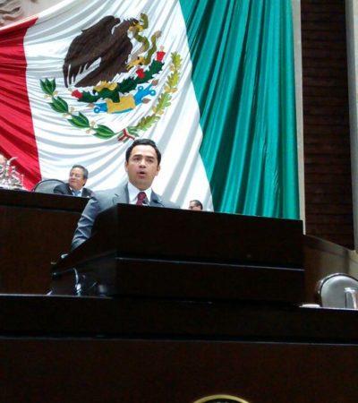 Sube diputado Toledo a tribuna para pedir reforma a Ley Aduanera para crear recintos fiscalizados estratégicos en Quintana Roo