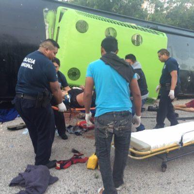 Sufren amputaciones 2 de los heridos en el accidente de autobús con viajeros de Tabasco en FCP