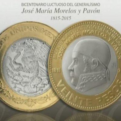 Por aniversario de José María Morelos, Banxico pone en circulación nueva moneda de 20 pesos