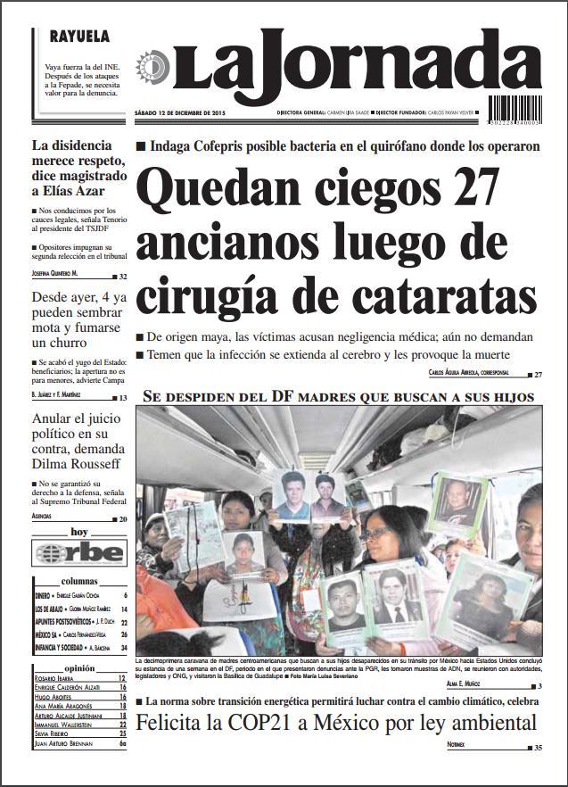 INDAGAN BACTERIA EN QUIRÓFANO: Inspecciona Cofepris clínica privada donde 27 ancianitos sufrieron grave infección por operaciones en la vista