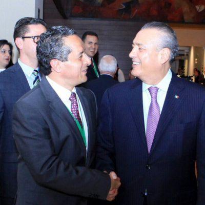 """COMO """"BUENOS AMIGOS"""" EN EL PRI: Presume Carlos Joaquín reunión con Manlio Fabio Beltrones"""