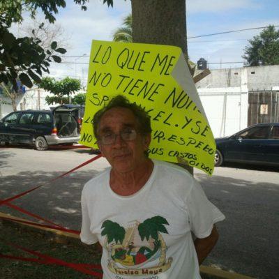 Protestan por presunto fraude de la Desarrolladora de la Riviera Maya en venta de un terreno en la colonia Colosio