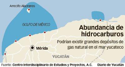 ¿FIEBRE PETROLERA EN YUCATÁN?: Confirman alto potencial económico de yacimientos de aceite pesado en zona marítima