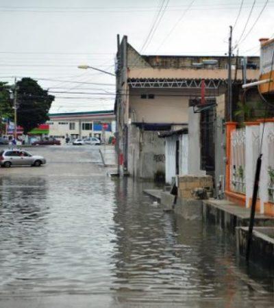 MAL TIEMPO EN EL NORTE DE QR: Lluvias por vaguada causan anegamientos y trastorno de actividades