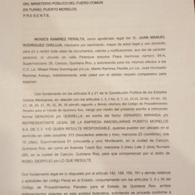 Ventilan otro caso de presunto abuso policiaco en desalojo de un predio en Cancún