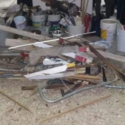 FRUSTRAN 'FIESTA' DE FIN DE AÑO: Decomisan armas, licor y drogas a granel en cateo en la cárcel de Cancún