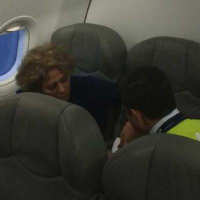 """""""NO SABEN CON QUIEN SE METEN"""": Arrestan a ex esposa de Joaquín Hendricks por armar alboroto en avión; llaman a María Rubio #LadyInterjet"""