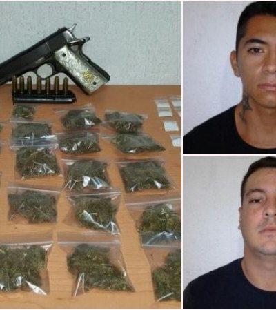 Caen 6 narcomenudistas en distintos puntos de Cancún; dos, menores de edad