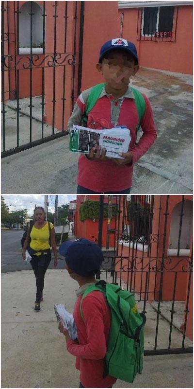 MAURICIO VUELVE A USAR A NIÑOS PARA REPARTIR PROPAGANDA ILEGAL: Alcalde insiste en campaña anticipada para buscar la candidatura del PRI