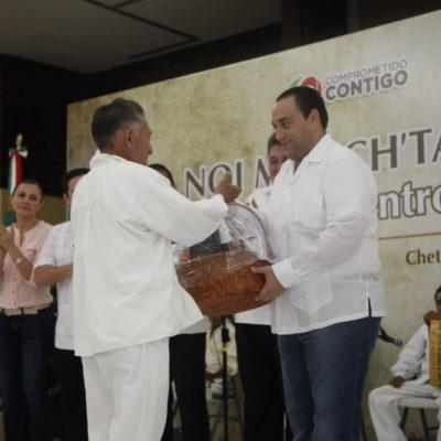 DERROCHA CON UNOS, SE 'AMARRA' CON OTROS: Tras apapachar a periodistas y burócratas, da Borge sólo pavos y canastas a dignatarios mayas