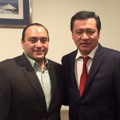 Se reúne Borge con Osorio Chong para dar seguimiento, dicen, a la 'agenda política' del 2016