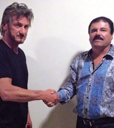 Tras revelarse su entrevista con 'El Chapo', quiere México interrogar a Sean Penn