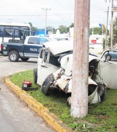 Turistas argentinos provocan fatal accidente en Cozumel por exceso de velocidad