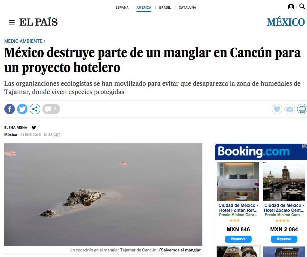 RETUMBA DEVASTACIÓN EN PRENSA INTERNACIONAL: Destacan medios cómo Cancún se ha unido en defensa del manglar del Malecón Tajamar