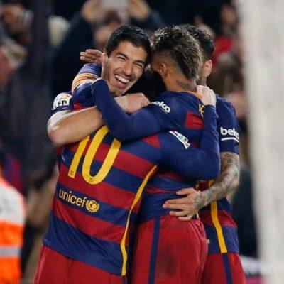 BARSA ASALTA LA LIGA ESPAÑOLA: Con goles de Messi y Luis Suárez, derrotan al Atlético de Madrid y se quedan con el liderato