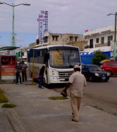 ¿OTRA VEZ SIN AUTOBUSES?: Atraviesa transporte urbano en Chetumal por nueva crisis; buscan aumento