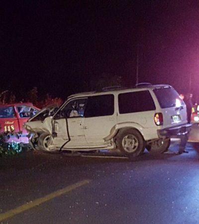 OTRO FATAL CARRETERAZO EN LA ZONA MAYA: Reportan 5 muertos en aparatosa carambola en la vía entre JMM y FCP