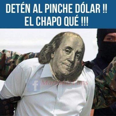 """""""DETÉN AL PINCHE DÓLAR!!, EL CHAPO QUÉ!!!"""": Los memes de la recaptura de Joaquín Guzmán Loera en Sinaloa"""