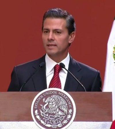 Dice Peña Nieto que recaptura de 'El Chapo' fue un logro para el Estado de Derecho