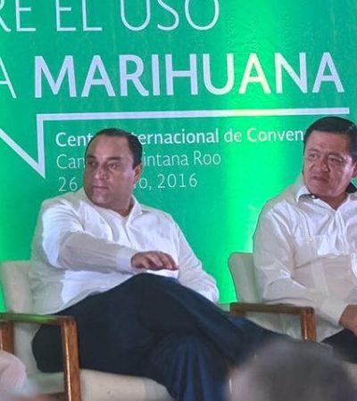 """LA MARIHUANA MARCA LA AGENDA: Inicia en Cancún primer foro nacional; ofrece Chong """"total apertura"""" para debatir uso y eventual aprobación"""