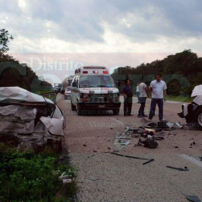 OTRO TRÁGICO ACCIDENTE EN CARRETERA DE FCP: Mueren 2 mujeres al chocar vehículo contra camioneta; hay 2 heridos más