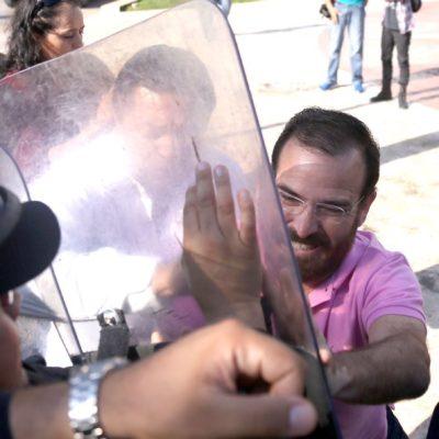 """""""NO MÁS ECOCIDIOS EN BENEFICIO DE PARTICULARES"""": Exige PRD a Paul Carrillo explicar participación de la policía en devastación del manglar"""