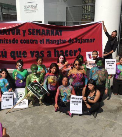 """""""BORGE, ECOCIDA, YA NO MATES A LA VIDA"""": Exigen activistas en DF revocar permisos en Tajamar y castigar a responsables de tala"""