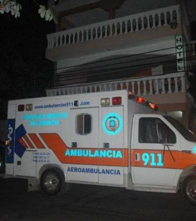 Muere hombre atropellado por una ambulancia privada en la Riviera Maya; paramédico se dio a la fuga