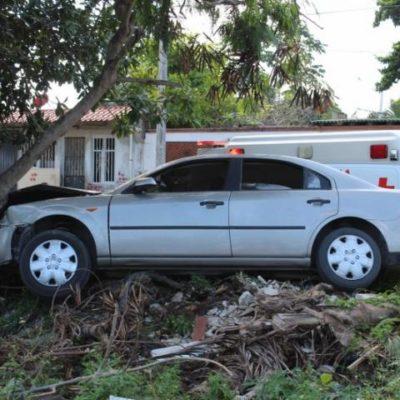 ALCANZA SU PRIMERA 'META' DEL AÑO: Se estrella contra un árbol en la Región 230