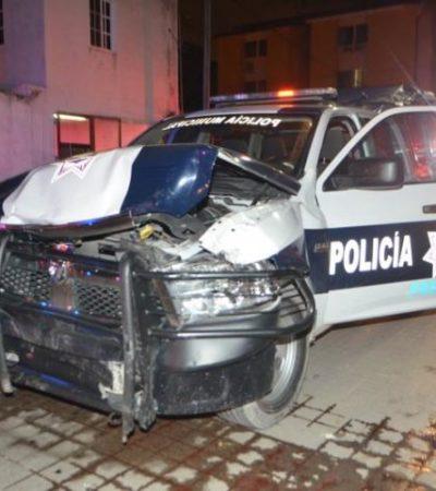 Despedazan otra patrulla de la policía de Cancún